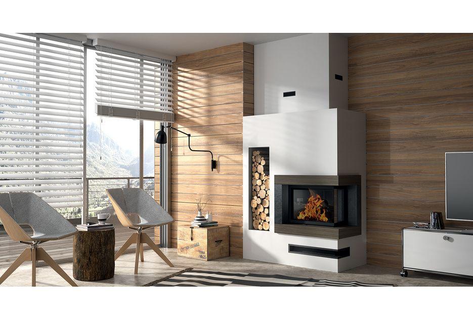 cheminée moderne à Saran